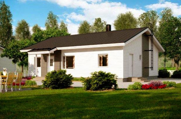 Одноэтажный дом с 2 спальнями и навесом для авто АЕ89