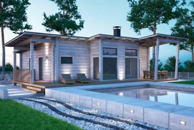 Комактный дом с односкатной крышей Т071