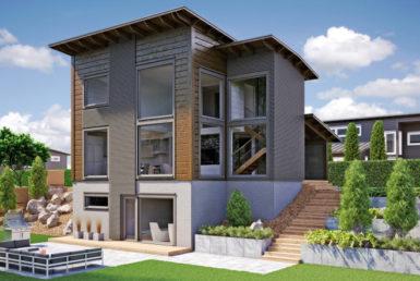 Двухуровневый двухэтажный дом с цокольным этажом T005