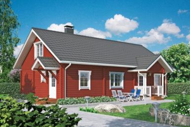 Финский дом с мансардой Т020