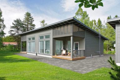 Компактный дом с застекленным фасадом Т044