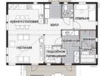 Двухэтажный финский дом с выносной террасой Т027
