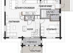 Одноэтажный дом с мансардой Т036