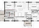 Одноэтажный дом с двумя входными группами Т061