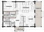 Дом с мансардой и просторным балконом Т064