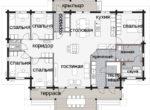 02 1Одноэтажный финский дом с террасой под навесом Т013