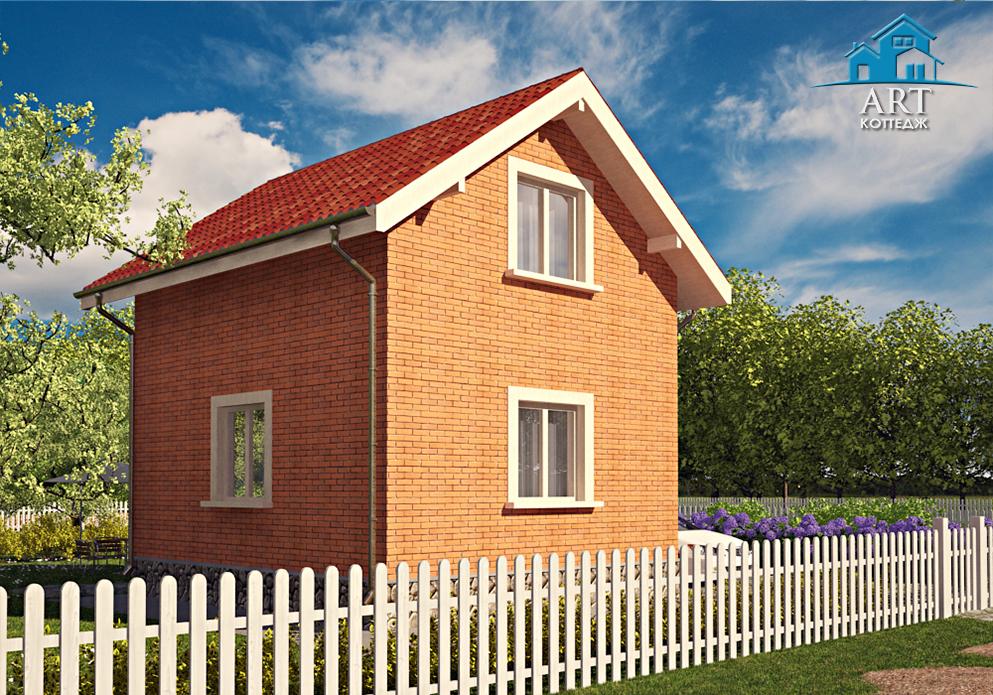 Двухэтажный дачный дом А01
