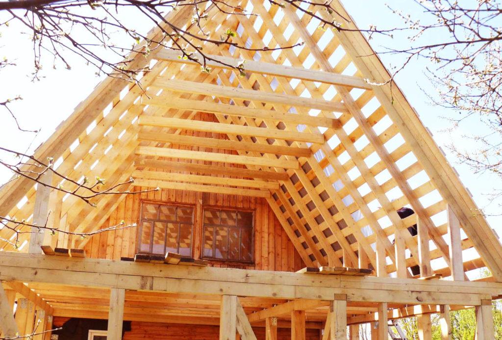 Крыша каркасный дом