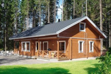 Одноэтажный дом под двухскатной крышей Т128
