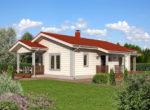 Компактный  дом с двумя террасами Т090