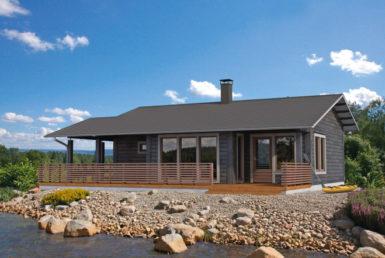 Одноэтажный дом с удлиненной террасой Т096