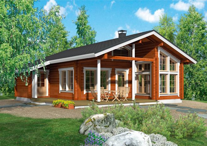 Одноэтажный дом с крытой террасой Т138
