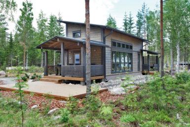 Одноэтажный дом с тремя входными группами Т100