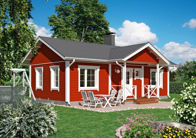 Традиционный финский дом Т147