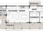 Одноэтажный дом со скругленной крышей Т098