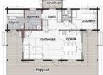 Дом с мансардным этажом и просторной террасой Т089