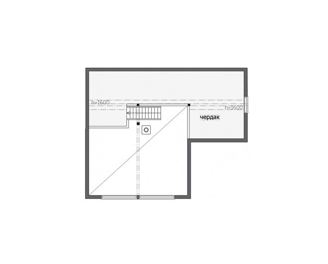 Дом с застекленным высоким фасадом Т127