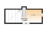 Одноэтажный дом с выделенной технической зоной Т088