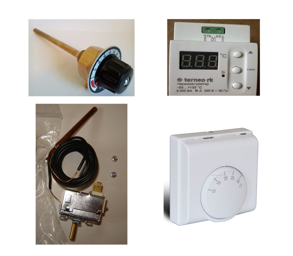Разные виды терморегуляторов