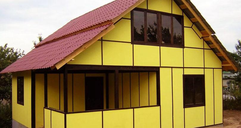 Окраска ОСП в каркасном доме