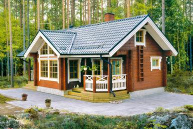 Садовый дом Т-образной формы Т169