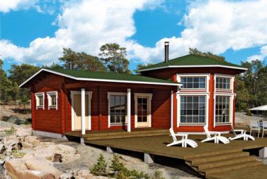 Садовый дом с выделенной гостиной Т170