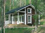 Садовый финский дом с мансардой   Т182