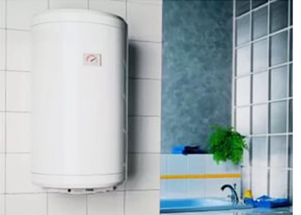Газовый нагреватель воды в интерьере ванной комнаты