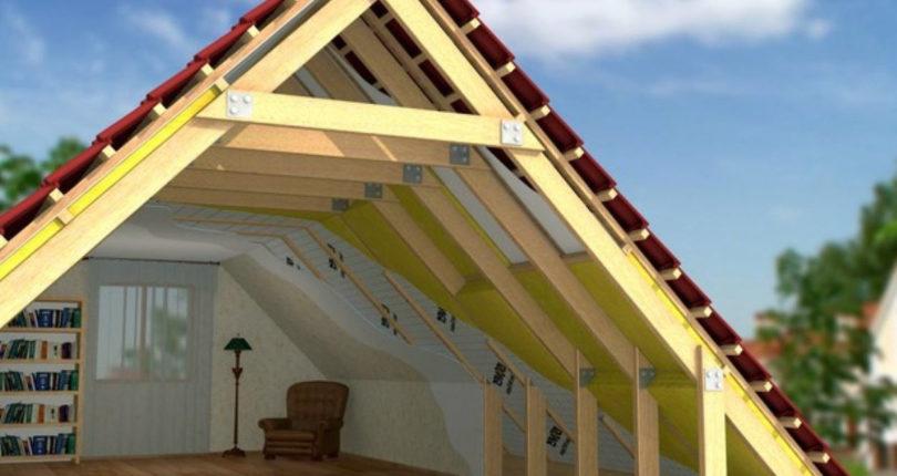 Утепление  и пароизоляция крыши каркасного дома