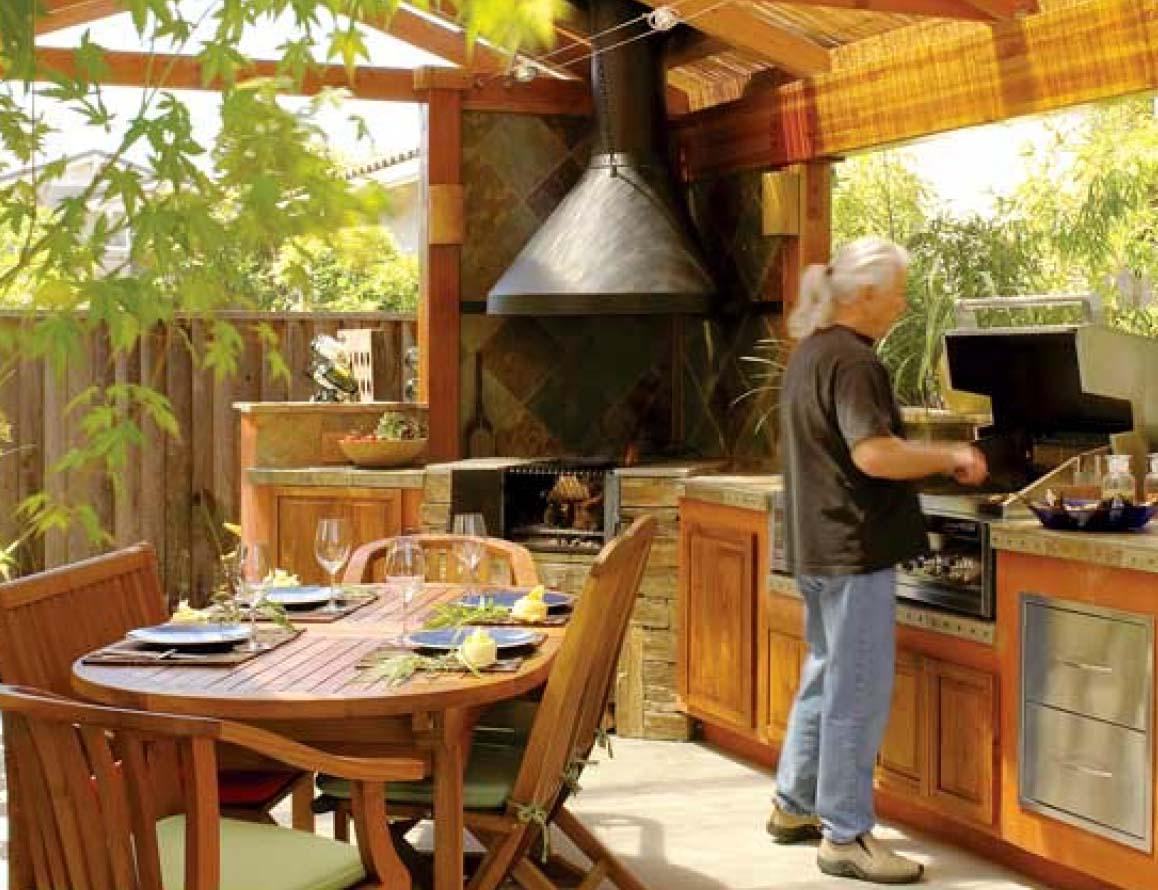 Обустройство кухни на даче своими руками