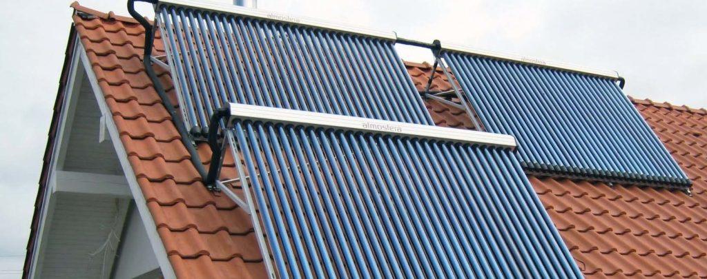 Типовое крепление солнечного коллектора