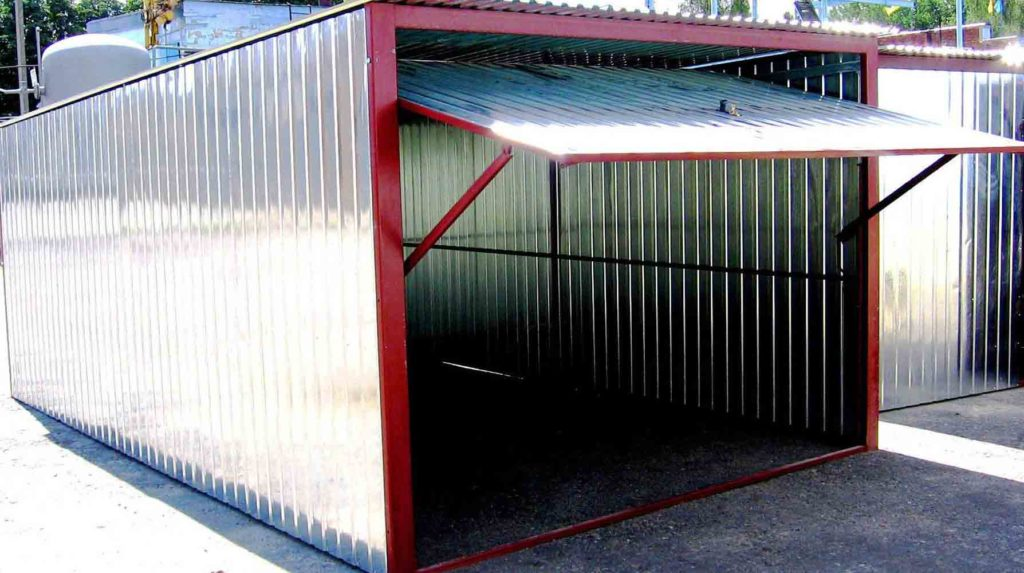 Такой гараж можно приобрести в готовом виде