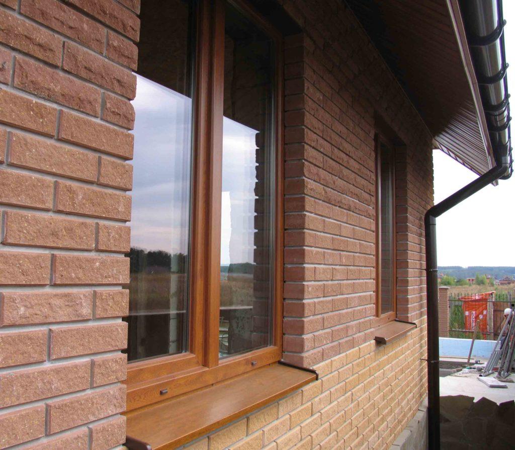 Отлив на окне с внешней части стены