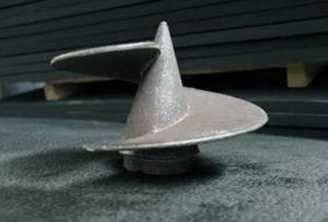Литой наконечник с лопастью