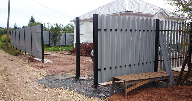 Применение винтовых свай для установки распашных ворот