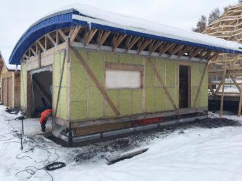 Фундамент на винтовых сваях для гаража