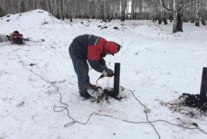В мороз нужно работать осторожно