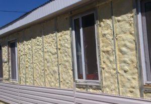 Фасад, утепленный пенополиуретаном