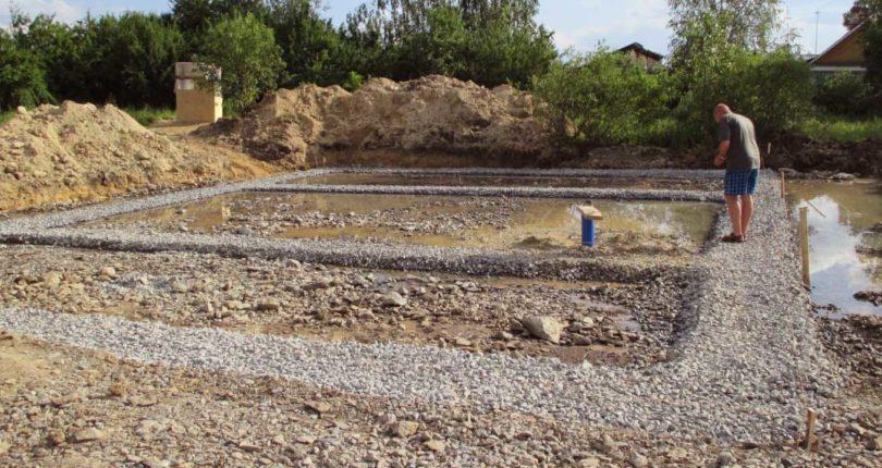 Фундамент на винтовых сваях в болотистых местностях