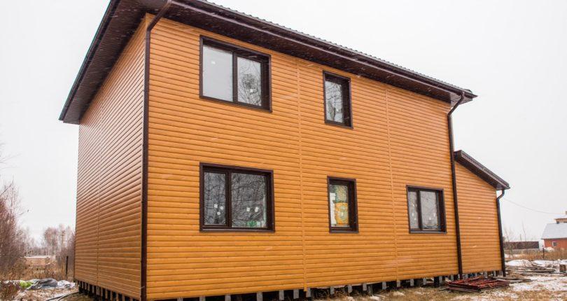Двухэтажный каркасный дом. СНТ Малиновка.