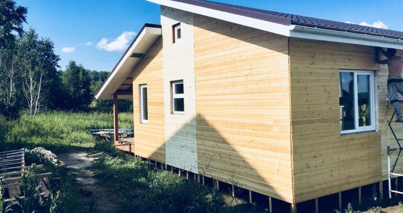 Одноэтажный каркасный дом в Рощино