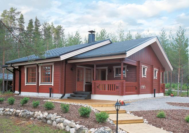 Одноэтажный дом с выделенной гостиной Т065