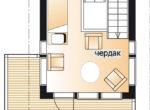 Одноэтажный дом с мезонином Т063