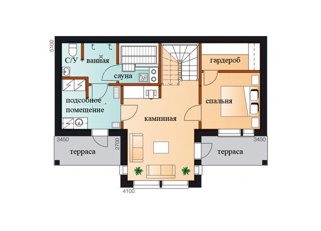 Трехэтажный дом с застекленным фасадом Т014