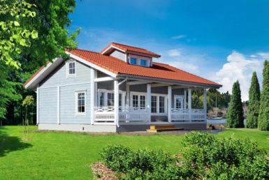 Финский дом с мезонином Т150