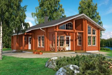 Финский дом с мансардой и большой террасой Т093