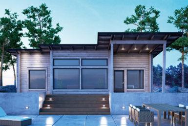 Одноэтажный дом с застекленным фасадом Т101
