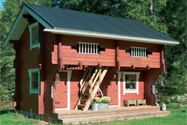Двухэтажный садовый дом Т177
