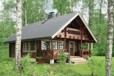 Дом с мансардой и балконом Т159