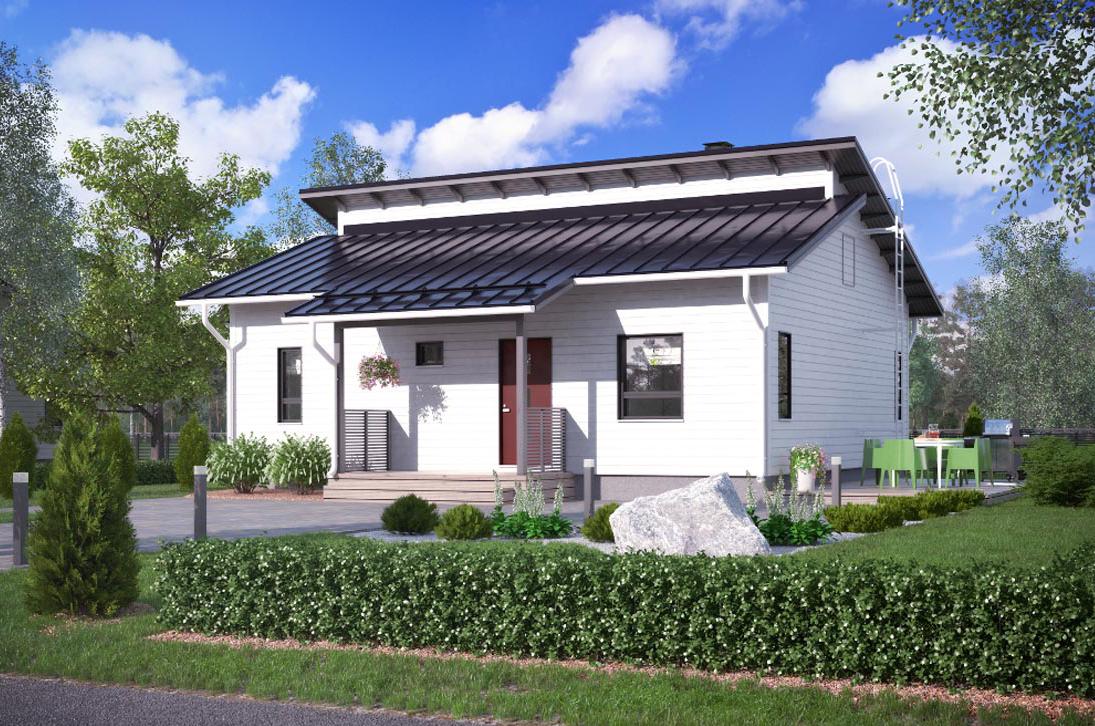Одноэтажный финский дом КД-89
